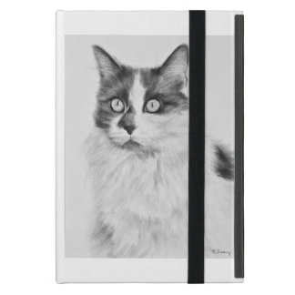 Oliva the Cat Drawing Cover For iPad Mini