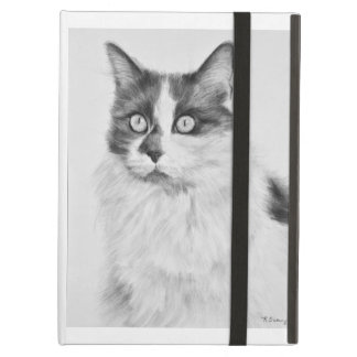 Oliva the Cat Drawing iPad Air Covers