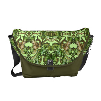 Olive and Gold Foliage on Any Color Messenger Bag