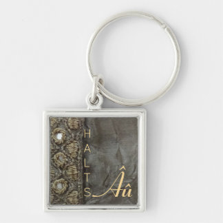 "Olive and Gold ""HALTS"" Autism Keychain"