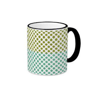 Olive and Green Polka Dots Mugs