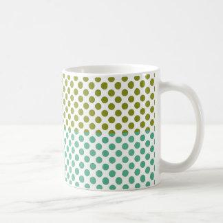 Olive and Green Polka Dots Coffee Mugs