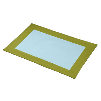 Olive and Light Blue Placemat