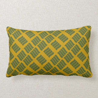 Olive and Mustard Wave Pillow
