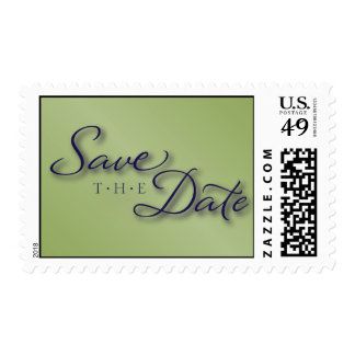 Olive and Navy Save the Date Postage