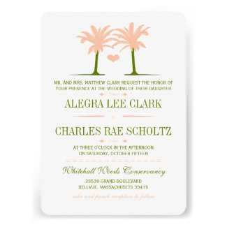 Olive and Peach Beach Typography Invite