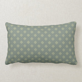 Olive and Sage Green Diamond Shapes Pillow