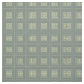 Olive and Sage Green Stylized Squares Rectangles Fabric