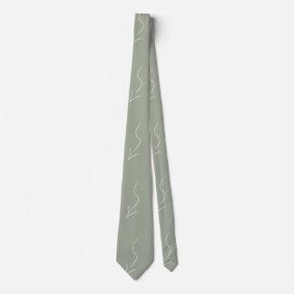 Olive Army Green STEM Flowchart Arrow CricketDiane Neck Tie