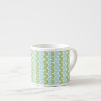 Olive Blue Chainlink Pattern Espresso Cup
