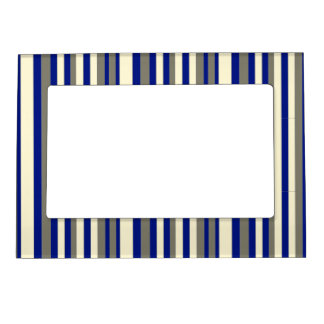 Olive blue pale yellow stripe magnetic frames