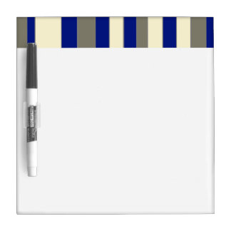 Olive,blue,pale yellow stripes Dry-Erase board