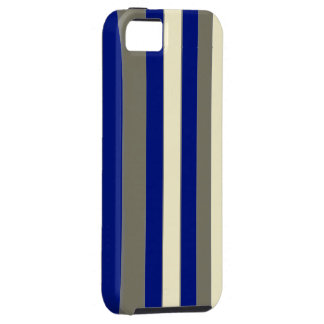 Olive blue pale yellow stripes iPhone SE/5/5s case
