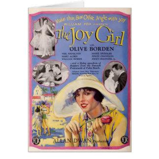 Olive Borden 1927 silent movie distributor ad Card