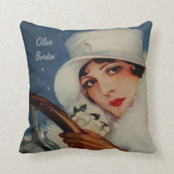 Olive Borden, Famous Film Star Throw Pillow