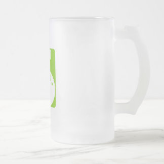 Olive Bowling 16 Oz Frosted Glass Beer Mug