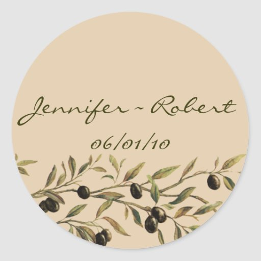Olive Branch: A Tuscan Touch Round Stickers