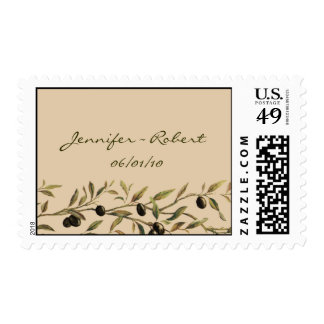 Olive Branch: A Tuscan Touch Wedding Postage Stamp