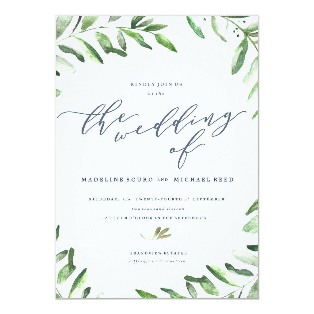 Wedding Invitations Houston 68 Luxury Olive Branch Boho Garden