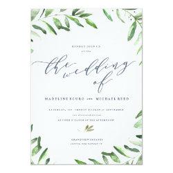 Olive Branch Boho Garden Wedding Invitation