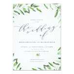 Olive Branch Boho Garden Wedding Invitation at Zazzle