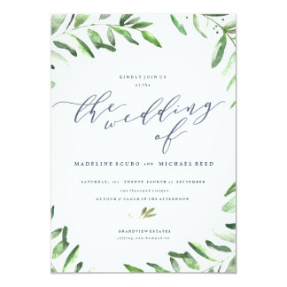 Wedding invitations wedding invitation cards zazzle spring wedding olive branch boho garden wedding invitation stopboris Choice Image