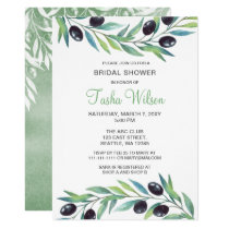 Olive Branch Botanical Bridal Shower Card