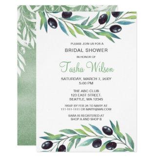 Olive Branch Botanical Bridal Shower Card