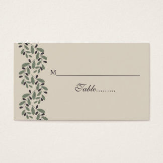 Olive branch garland wedding place card