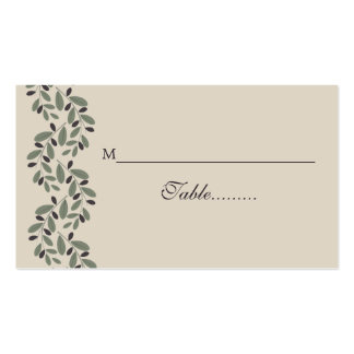 Olive branch garland wedding place card Double-Sided standard business cards (Pack of 100)