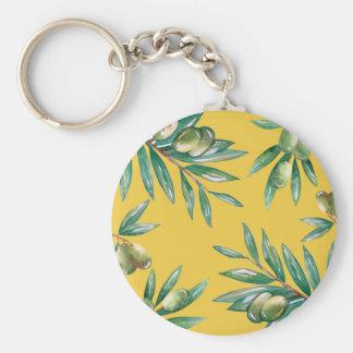 Olive Branch Pattern Keychain