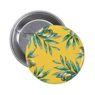 Olive Branch Pattern Pinback Button
