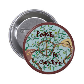 Olive branch peace sign pin