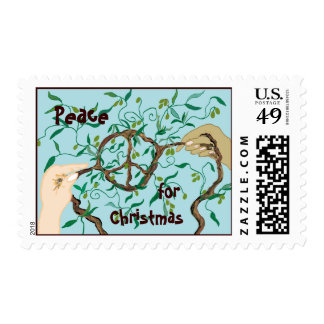 Olive branch peace sign stamp