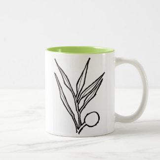 """Olive Branch"" Two-Tone Coffee Mug"