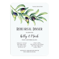 Olive Branch Winery Rehearsal Dinner Invitation