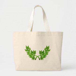 Olive Branch Wreath Large Tote Bag