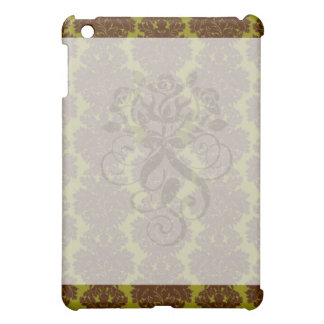 olive brown formal damask case for the iPad mini