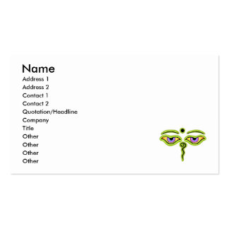 Olive Buddha Eyes.png Business Card Template