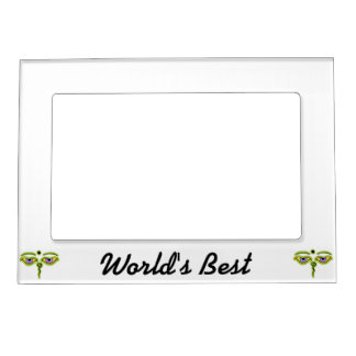 Olive Buddha Eyes.png Magnetic Picture Frame