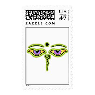Olive Buddha Eyes.png Postage Stamp