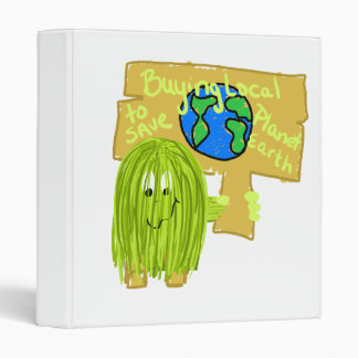 Olive Buying local to save planet earth 3 Ring Binder