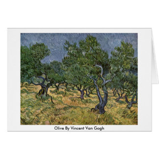 Olive By Vincent Van Gogh Card