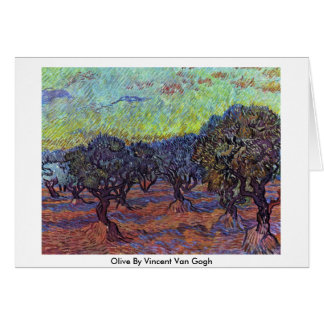 Olive By Vincent Van Gogh Greeting Card