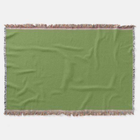 Olive-Colored Throw Blanket