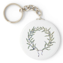 Olive Crown Keychain