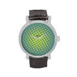 Olive dancing Dots /Mens Watch Relojes De Pulsera