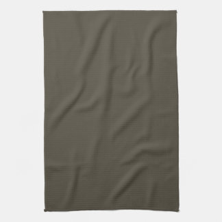 Olive Dark Green Solid Trend Color Background Hand Towels
