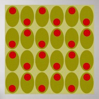 Olive design poster print