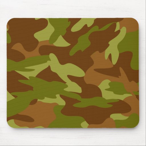 Olive Drab Camo Mouse Pad